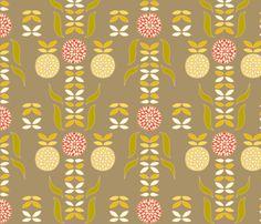 dahlia fabric by holli_zollinger on Spoonflower - custom fabric