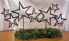 Wedding Table Decorations - Creating the Wow For Your Wedding Table - Put the Ring on It Star Centerpieces, Wine Bottle Centerpieces, Star Decorations, Wedding Table Decorations, Centerpiece Decorations, Prom Decor, Graduation Decorations, Star Wars Wedding, Music Decor
