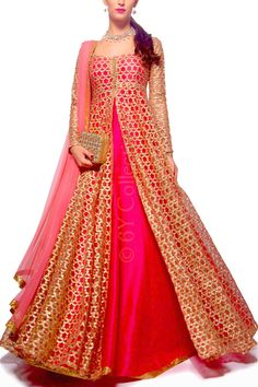 Best 15 Latest Lehenga Kurta Designs for Women: For Eid & Festivals) Hot pink net kurta with lehenga: 15 Latest lehenga kurta designs for women for modern look for weddings, receptions, festivals and both Indian and pakistani style Party Wear Indian Dresses, Indian Gowns Dresses, Pakistani Dresses, Pink Gowns, Indian Designer Outfits, Indian Outfits, New Designer Dresses, Eid Outfits, Wedding Outfits