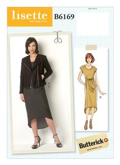 B6169 | Butterick Patterns Moto jacket with no collar!