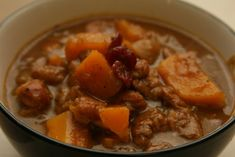 Sweet and Savory Sage Stew with Pumpkin and Cherries – Life As A Plate