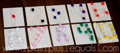 Here's a set of number cards with dots to help students practice counting and one-to-one correspondence.