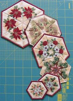 Geta's Quilting Studio: Kaleidoscope again - coaster, mug rug, pot holder, table topper?