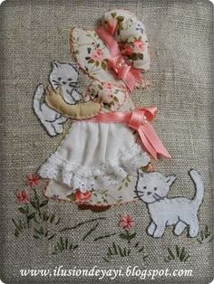 Pattern Design Inspiration – love the style of the sunbonnet sue. tutorial for a bag included in the link.
