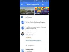 Google Review How To Tucson Roof Coatings LLC... Roof Coating Tucson One  Roof