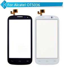 Original For Alcatel One Touch Pop C5 5036D OT5036 OT5036D 5036 Touch Screen Digitizer Glass BLACK or WHITE