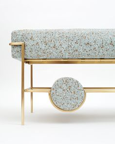 Bina Baitel Designs Jewelry Like Furniture Using Brass, Pink Marble And  Terrazzo Fabric