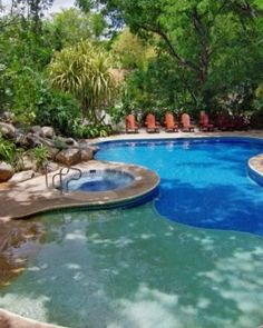 Hotel Bosque del Mar  ( Guanacaste, Costa Rica )  Choose between the quiet, lounger-dotted swimming pool or the beach scene on Playa Hermosa. #Jetsetter