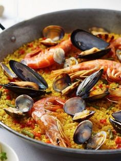 Greek Recipes, My Recipes, Recipies, Healthy Recipes, Healthy Foods, Cypriot Food, Orzo, Fish And Seafood, Paella