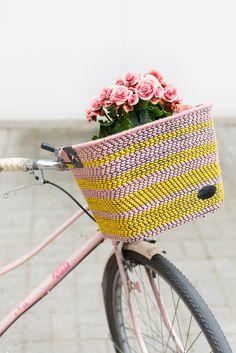 DIY woven bike basket | Kittenhood