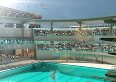Swimming World obtained photos of the proposed Santa Clara Swim Center, future home of the International Swimming Hall of Fame. The city of Santa Clara hopes to build a new 3-acre International Swim Center on the other side of Central Park from its current aquatics facility that would eventually house the 7,500-square-foot Hall of Fame. #ISHOF #SantaClara