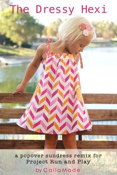 Project Run & Play: Popover Sundress Remix {Week One}
