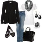 Casual Outfits   Black and White Weekend