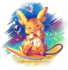 I love the colors on this pokemon digital art…. I love the colors on this pokemon digital art… what a cute painting! Gif Pokemon, Pokemon Fan Art, Pokemon Sun, Cool Pokemon, Pichu Pikachu Raichu, Pokemon Collection, Cute Paintings, Pokemon Pictures, Fanart