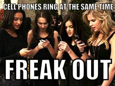 Pretty Little Liars, #PLLFanProblems: Text Message, Freak Out