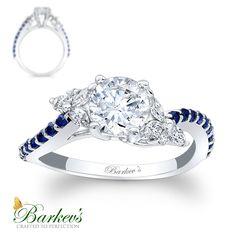Blue Sapphire & Diamond Engagement Ring! 7968LBS