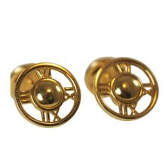 Tiffany Atlas Gold Cufflinks