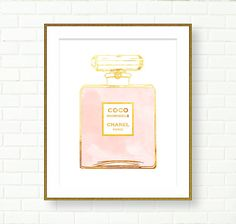 This listing is for one Paper Print in selected size.  Its a beautiful illustration of Coco Mademoiselle perfume bottle made using digital gold foil texture. Great Wall Decor for Vanity Area, Wardrobe, little girls room... ------------------------------------------------------------------------ TO PURCHASE THIS ARTWORK AS A DIGITAL FILE, Please, follow this link: www.etsy.com/ca/listing/236180098 ----------------------------------------------------------------------- This Artwo...