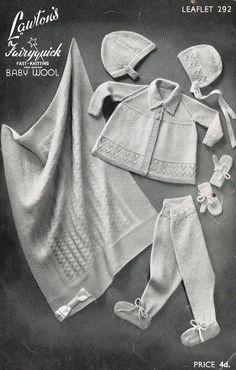 Lawtons 292 baby pram blanket and matinee coat set door Ellisadine, £1.00