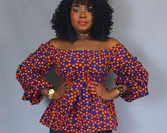African print off shoulder top with sash ,African clothing,women's clothing,tops,blouses,off shoulder tops,robe wax,African tops
