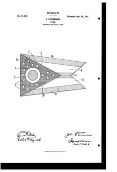 Patent USD34810 - Design for a flag - Google Patents