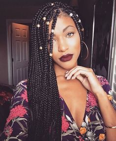 Box Braids Are A Perfect Summer Hairstyle For Black Women The Braided With Weave Requires Minimal Maintenance Making It An Easy Vacation Hair