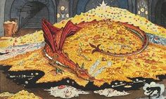 Elegant … a detail from JRR Tolkien's drawing Conversation with Smaug. Click to enlarge