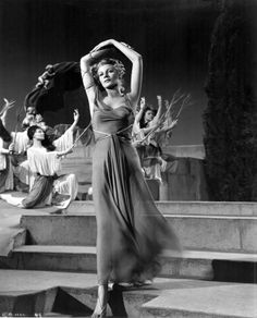 """Rita playing the Muse, Terpsichore in """"Down To Earth"""" (1947)"""