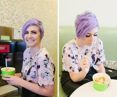 Light purple hair // isn't @valerybrennan adorbs?!