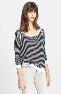 rag & bone 'Arianna' Raglan Pointelle Sweater available at New Fashion, Girl Fashion, Fashion Outfits, Womens Fashion, Pretty Outfits, Cute Outfits, Culture Clothing, Dressy Shorts, Girly Girl