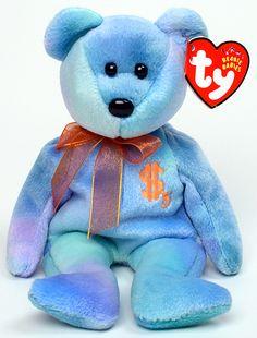 Billionaire 5 - bear - Ty Beanie Babies