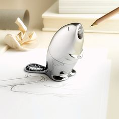 Beaver Pencil Sharpener by Alessi via toxel.com  (If you are ever my secret Valentine-- quirky animals are the key to my heart!)