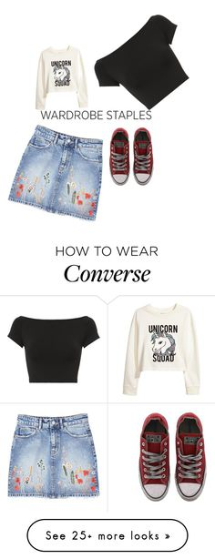 """""""Wardrobe staples"""" by hannah36044 on Polyvore featuring MANGO, H&M, Helmut Lang and Converse"""