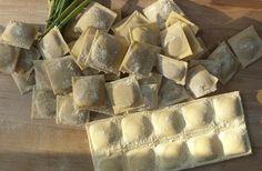 Salmon Stuffed Ravioli (do this photo with Anna's dumplings)