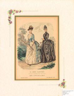 A set of three Parisien fashion hand-coloured prints, late 19th century - Price Estimate: $200 - $300