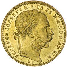 Franz Joseph I. 1848 - 1916 8 Forint 1887 KB Gold Kaiserreich
