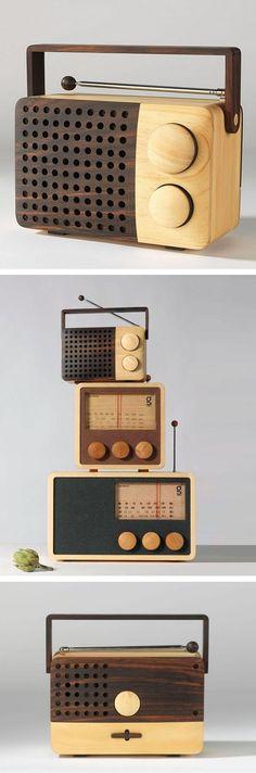 Magno Wooden Radio. Way cool!