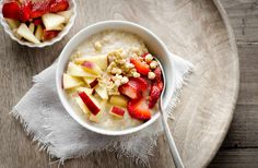 """Start Your Day with healthy breakfast recipe - """"Broken Wheat and Apple Porridge Recipe"""" a delicious healthy bowl loaded with fiber calcium and essential vitamins.The freshness of cinnamon and fresh fruits along with the crunch of muesli enhances the flavors of the porridge - Recipe by Farrukh. -->http://ift.tt/1LNuoIM #Vegetarian #Recipes"""