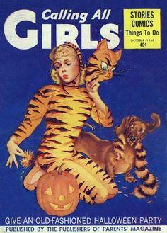 Vintage Calling All Girls magazine.