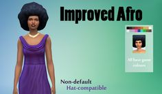The Sims 4   Improved Afro Hairstyle   female adult natural hairs new mesh