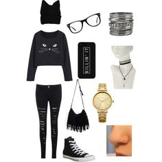 A fashion look from February 2015 featuring Converse sneakers, Oasis watches and Muse eyeglasses. Browse and shop related looks.