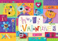 """""""Valentine's Day - Girl"""" placemats for kids by Holli Conger for Oopsy daisy, Fine Art for Kids #oopsydaisy #oopsydaisyart"""