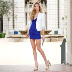 Blue Smoke Look by Nikibiki and MMS at DailyLook  in need of a white blazer