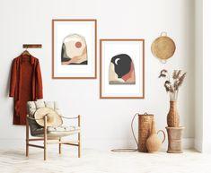 Modern Minimalist, Mid-century Modern, Portrait Wall, Mid Century Modern Art, Moon Art, Modern Wall Art, Printable Wall Art, Art Prints, Printables