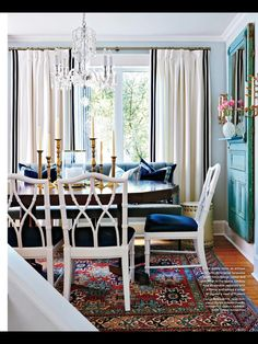DINING Lindsay Mens Craig ( Sarah Richardson Design ) in February 2014 Style at Home #Blue