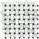 Carrara Venato Basketweave Free Shipping Honed Mosaic