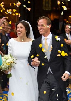 Just married: Prince Jaime and Princess Viktoria Bourbon-Parma leave the Church after their wedding in Apeldoorn, The Netherlands, 05.10.13.