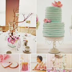 Gorgeous Pink & Teal Modern Dol {First Birthday} by Angy & Co.! http://hwtm.me/100QA5z