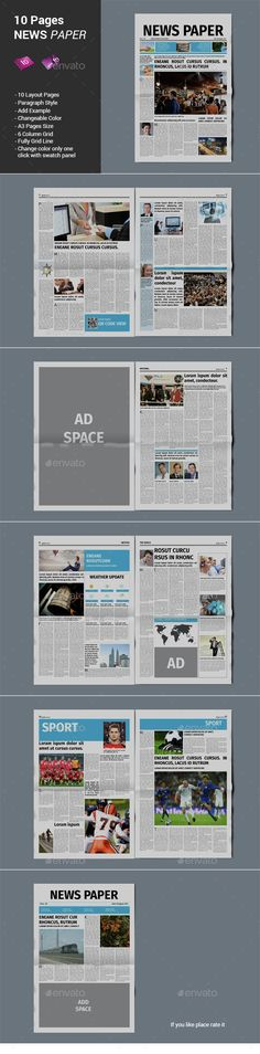 Newspaper Template 18 Pages Newspaper Template And Print Templates