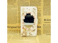 #Bling Bling Mirror Leather Wallet #Case for iPhone #5C